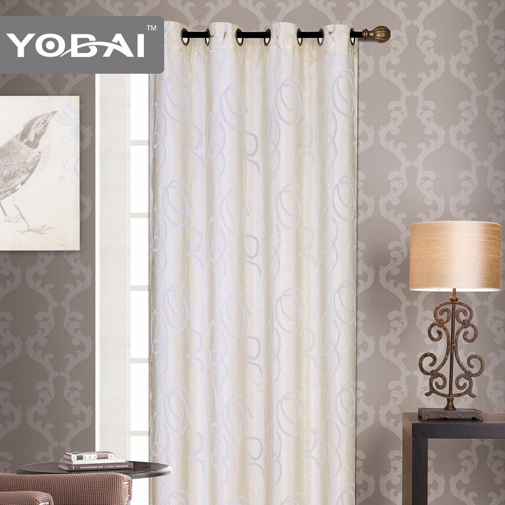 Luxury 100% Polyester With Yiwu Window Lace Curtain Models