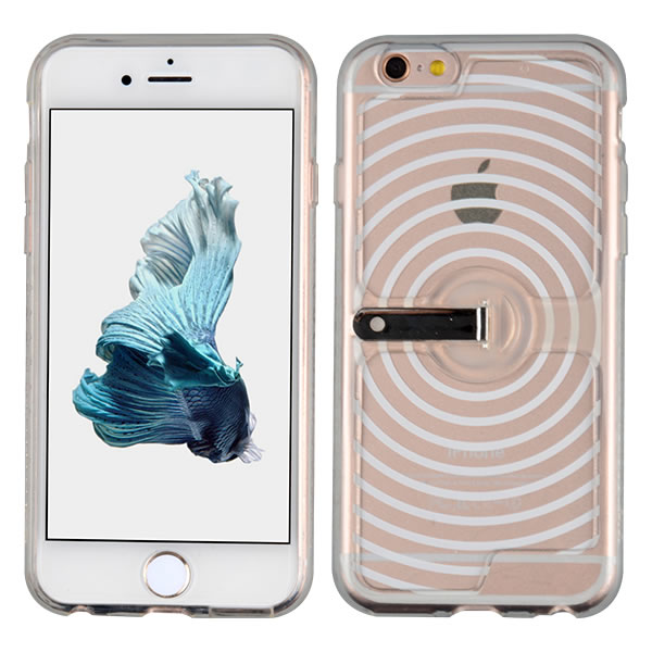 C&T Soft TPU Flexible Case Creative Wave Design Back Cover Protective Skin Case for iPhone 6/6 S
