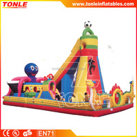 Outdoor Children Inflatable playground with inflatable climbing wall challenge