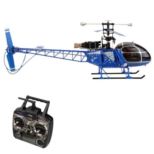 WLtoys V915 2.4G 4 CH High Simulation RAMA RC Helicopter with Gyroscope(Blue)
