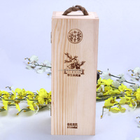 Made in china high quality luxury cheapest handmade Paulownia wood wine boxes/solid wood wine box for whisky packaging