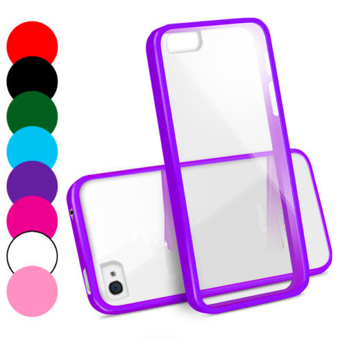 Transparent Silicon TPU Bumper Case for iphone 4 4S