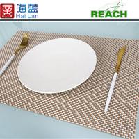 hotel suppliers PVC handmade table mats
