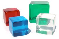 Transparent Counting Cubes, Blank Dice