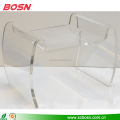 clear lucite acrylic lucite coffee table