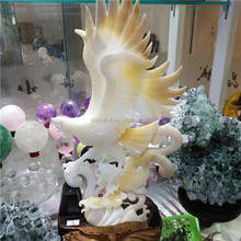 Tridacna jade carving home decoration animal a bird of Jove