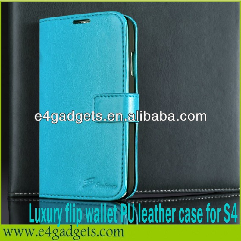 2013 Hot sale Luxury Premium PU Leather Wallet vans waffle case for samsung galaxy s4 i9500,case for S4