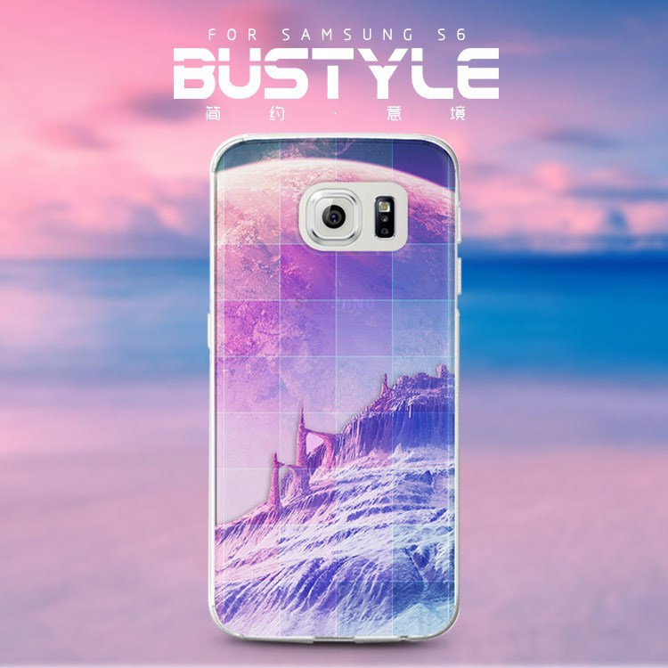 Hot new products for 2015 For samsung galaxy s5 s6 edge mobile phone case with the high mountain and moon design