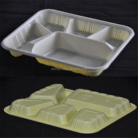 PP Disposable Microwave plastic divided tray for food