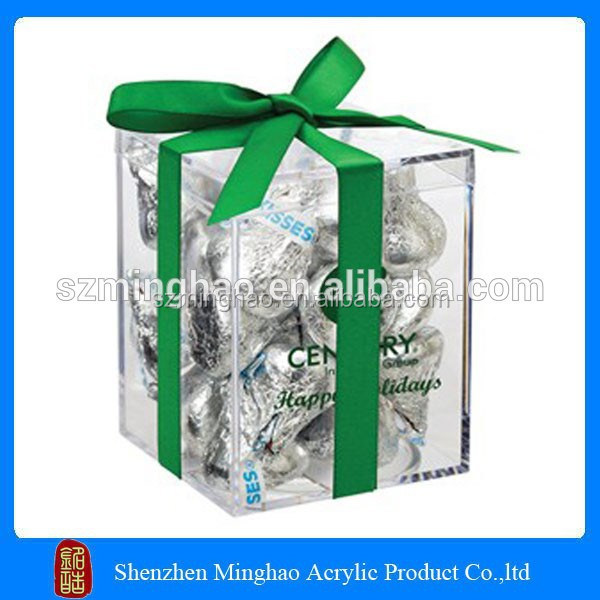 Promotional clear acrylic stackable candy bins