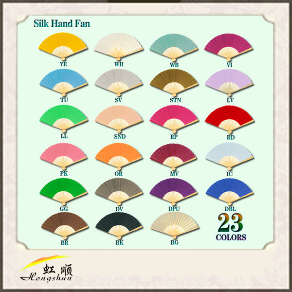 custom design Chinese Traditional Hand Hold Bamboo Paper Fan