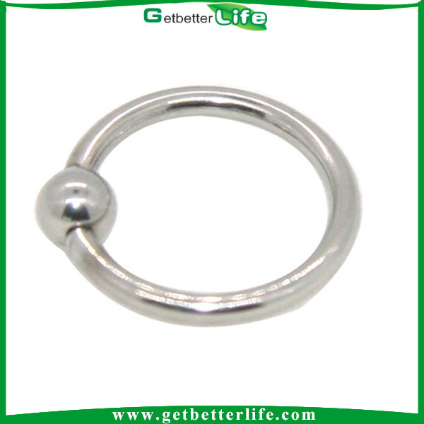 Love Lock Captive Bead Ring Piercing on Lip Ring