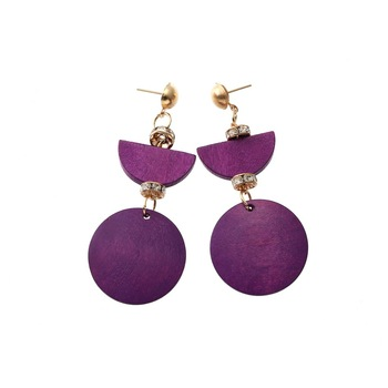Original fashion popular wood earrings cross-border e-commerce source of goods foreign trade accessories wholesale for women
