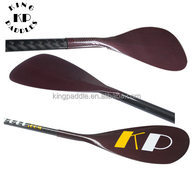 Red kevlar adjustable stand up carbon paddle sup