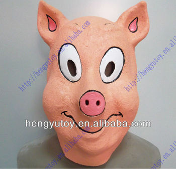 vivid realistic latex porky pig mask and lovely cartoon
