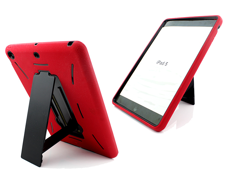For iPad Air iPad 5 stand rubber tablet bumper case, wholesale cheap price