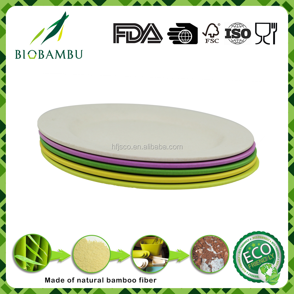 Best selling products excellent quality bamboo fiber food plates/tray