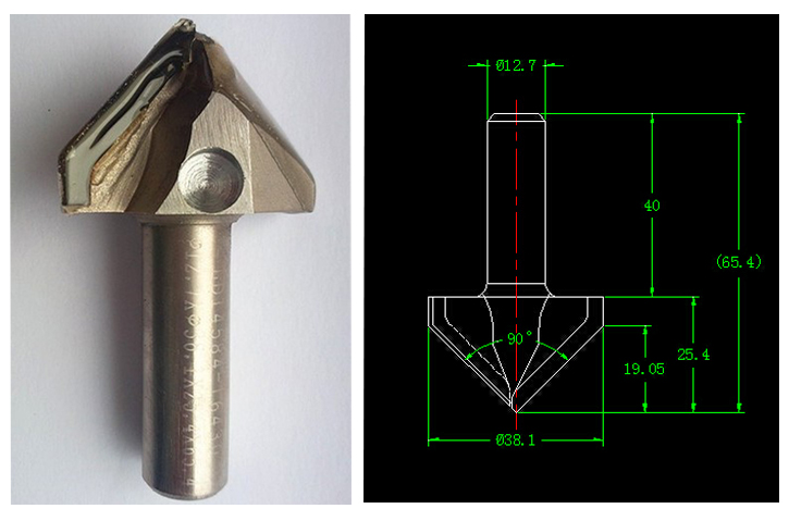 PCD wood working tools wood router bit cnc diamond router bits for wood