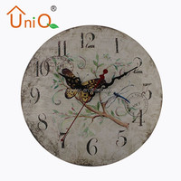 M1214 12'' antique Chinese old style digital wall clocks
