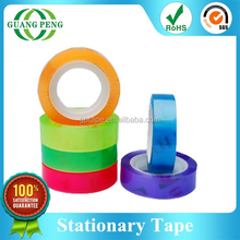 2015 Hot Selling Colorful Personalized Stationery Opp Tape
