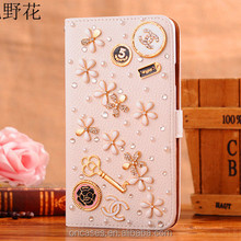 Flower pattern DIY docration handmade cell phone case for iphone 4 case with diamond