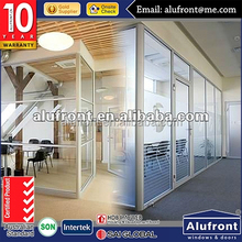 aluminium Office Partitioning System Glass walls partitions Spider glazing for office