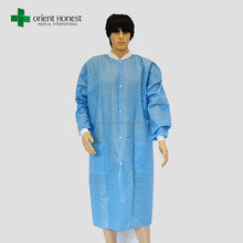 Disposable safety fire retardant blue lab coat manufacturers