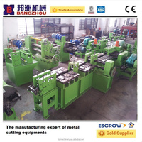 flat bar chamfering straightening machine and cut to length