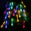 30LED Water Drop Wedding Fairy Party Decorative Christmas LED Solar String Light,Solar Decoration Light for Festival