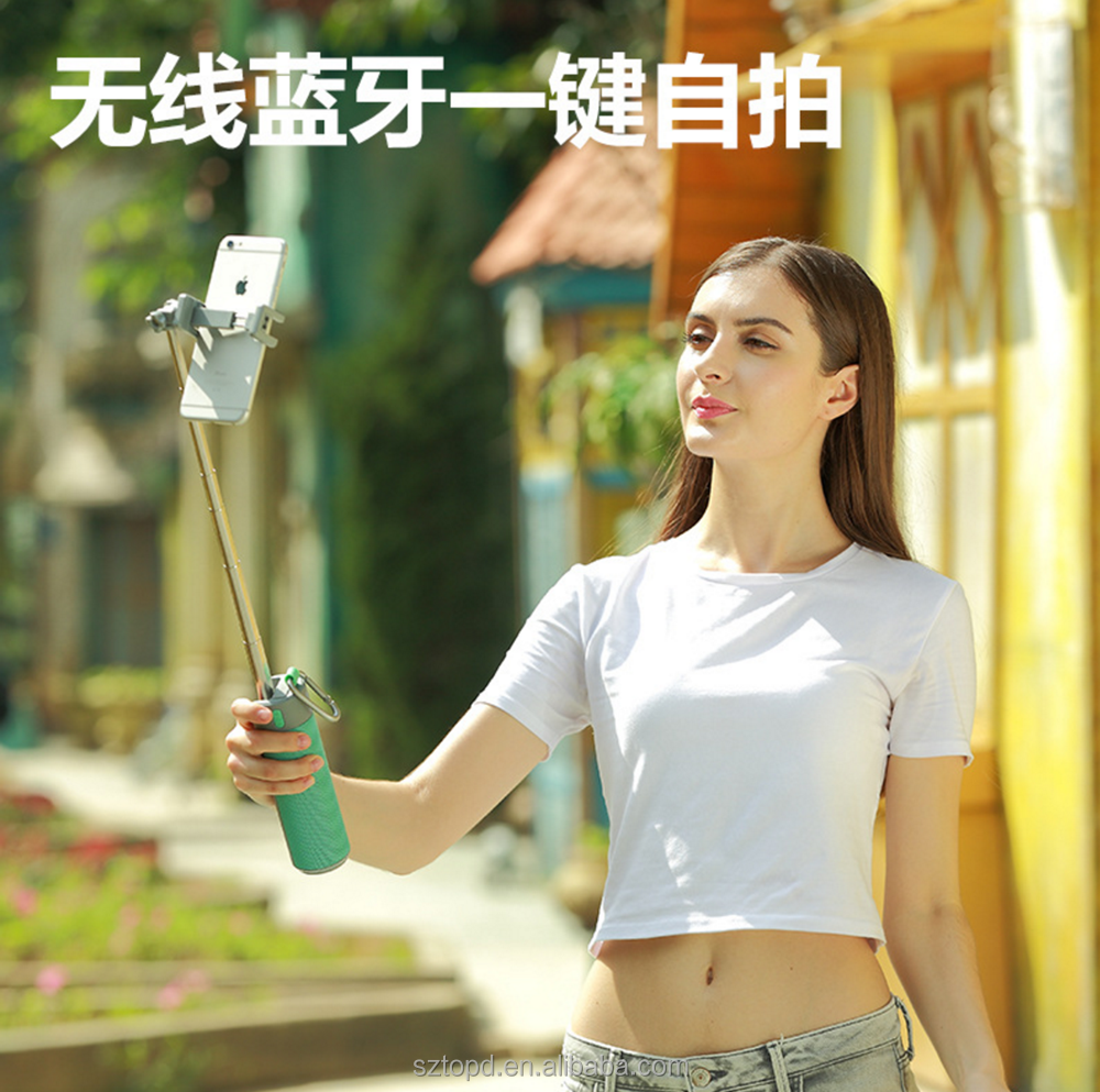 2017 new usb car selfie stick powerbank phone holder mutilfunction bluetooth speaker
