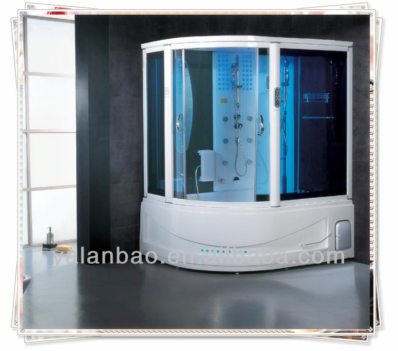 Luxury shower cabin steam shower with whirlpool spa bathtub hamman G165
