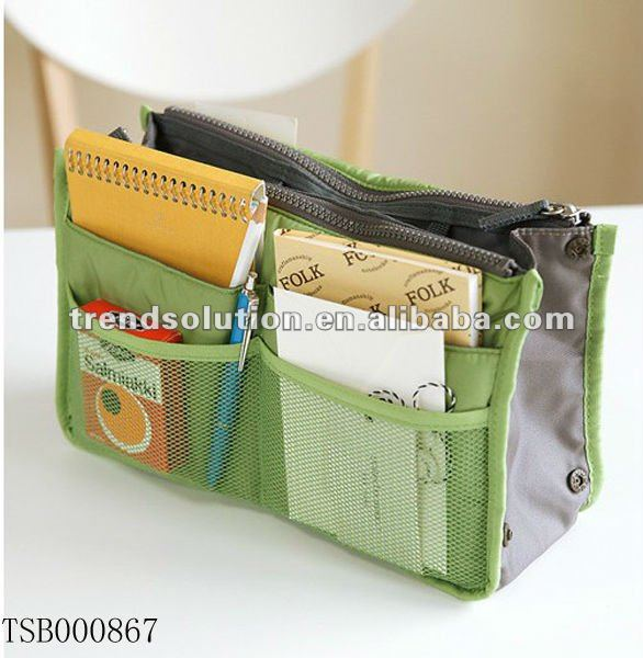 trendy fancy for new fashion bag inner organizer with many bags