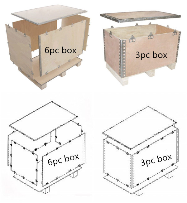 With Plywood Pallet Collapsible Packaging Boxes For Machinary