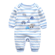 Boutique Anti-Bacterial Striped Baby Jumpsuit