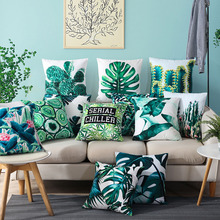 Buti latest design Wholesale Tropical Velvet and plants Digital printing decorative cushion cover