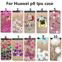 mobile phone case for huawei p8 smart phone ultra-thin tpu P8 back shell Coloured drawing or pattern phones cases