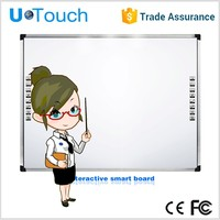 U-touch 92 inch four fingers infrared interactive whiteboard/Electronic Whiteboard/smart board interactive whiteboard