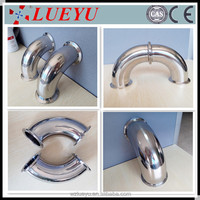 stainless steel pipe fitting clamp elbow