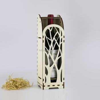 SLTJ-002 Laser cut Plywood wine Gift box