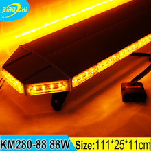 "Biaochi 88W 44"" black aluminum cover car security super bright amber flashing led strobe truck roof led light bar"