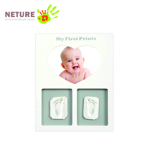 Premium Clay Baby Footprint and Handprint Picture Frame Kit Safe and Non-toxic Clay Perfect gift for new baby
