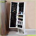 Jewelry Organized Cabinet Mirror Floor Standing Bedroom Ornament from Goodlife