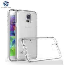 New arrival Cases for Samsung S5 TPU + Arcylic Transparent Hard Back Cover Shockproof Phone Cases for Galaxy S5