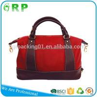 Good pu leather material do sample wholesale design printed custom made shopping bags