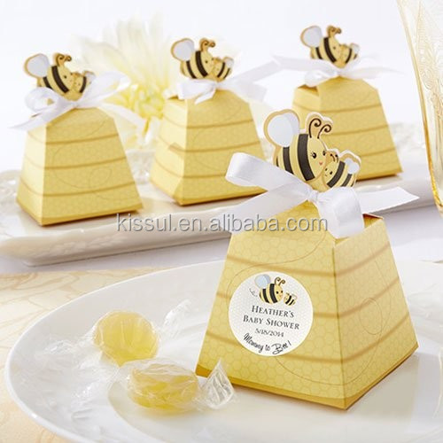 "Newest Baby Candy box ""Sweet as Can Bee"" Personalized Beehive Favor Boxes For baby Shower"