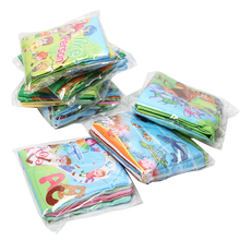 Early English letter learning educational soft cloth books for baby