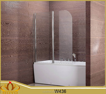 portable pivot glass bathroom shower screen W436