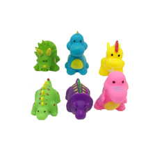 Six plastic dinosaurs environmental protection bath toys