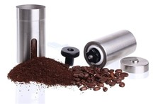 Manual Stainless Steel Coffee Grinder, Adjustable Ceramic Conical Burr coffee Mill