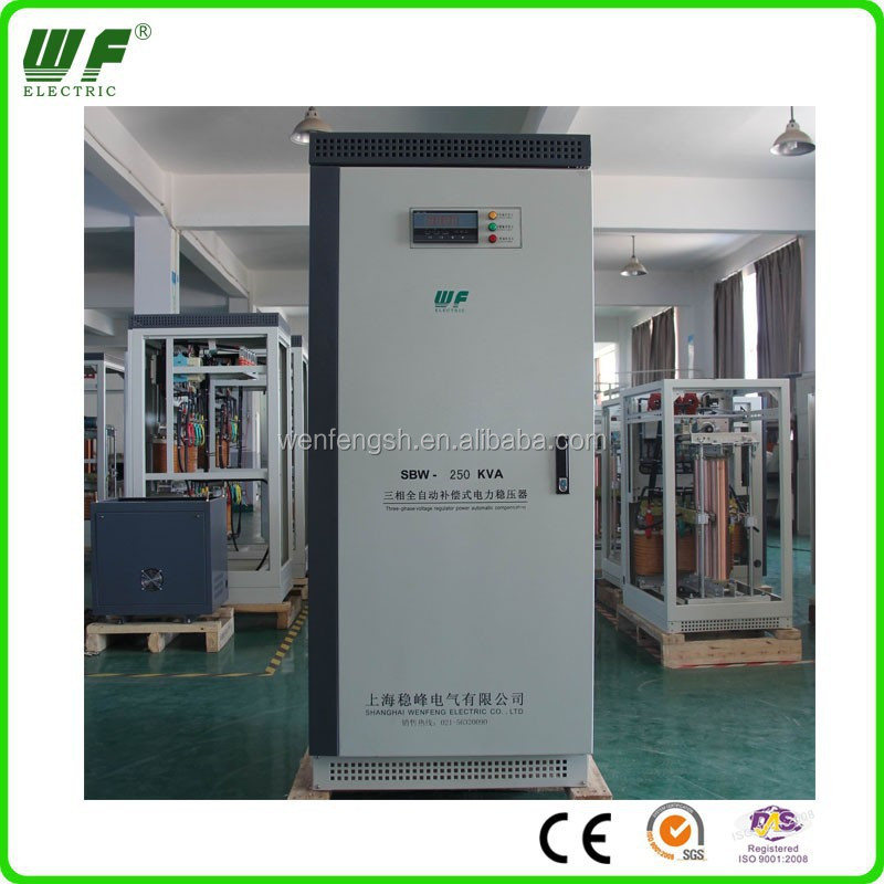 250kva 3 phase industrial ac voltage stabilizer avr for generator